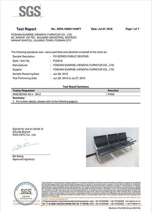 SGS PU3016 REPORT - 1